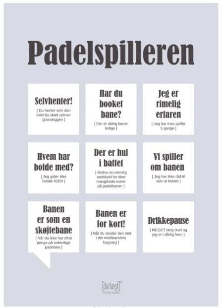 Plakat Padelspilleren